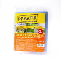 Салфетки для уборки викозные Praktik™, 3 шт.