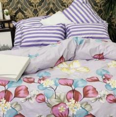 Комплект постельного белья Фиолетово-серая...