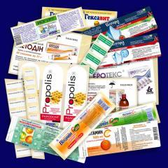 Этикетки самоклеящиеся для фармацевтики