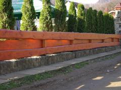 Деревянные заборы из натурального дерева