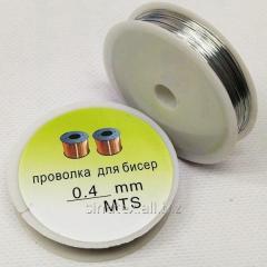 Проволока 0,4мм Намотка 50 ярдов (46 метров), цвет - серебро (СИНДТЕКС-0931)
