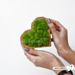 Деревянная шкатулка-сердце со стабилизированным