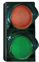 Traffic light two-section red-green-T1.1 KZ-AT