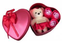 Коробка в форме сердца РОЗОВАЯ с мыльным...
