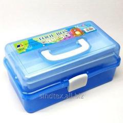Большая пластиковая тара (чемоданчик, контейнер, органайзер) для рукоделия и шитья (НП-5662)
