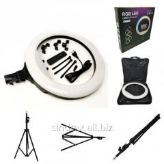 Лампа кольцевая RGB MJ-18 (436 диодов) 45 см с сумкой и штативом (НП-1235559)