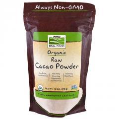 Now Foods, Real Food, какао органический сырой