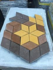 Тротуарная плитка Ромб 50мм,3D