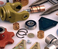 Spare parts to harvesters
