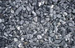 Crushed stone for road construction from the