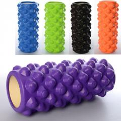 Ролик для йоги массажный оранжевый MS0857-5