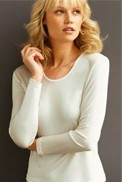 Knitted top with long sleeves