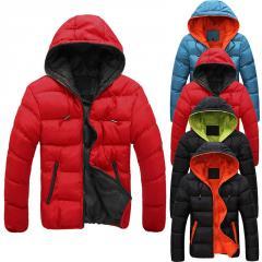 Зимняя плотная,  теплая куртка с капюшоном...