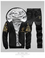 Зимние спортивные костюмы-толстовки для мужчин с капюшоном.