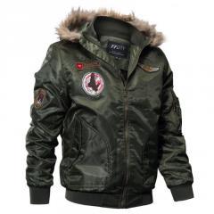 Армейская толстая брендовая куртка (бомбер) для мужчин