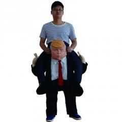 Забавный надувной костюм для взрослых-(Верхом на Дональде Трампе)