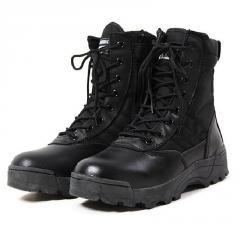 Зимние армейские кожаные сапоги-(Ботильоны)