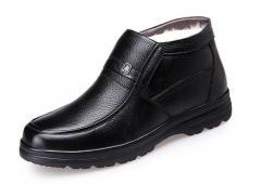 Зимние мужские туфли на меху из натуральной...