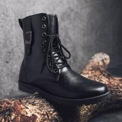 Модные зимние,  теплые,  кожаные мужские...
