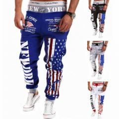 Мужские спортивные штаны-(американский флаг)