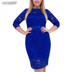 Качественное платье больших размеров.