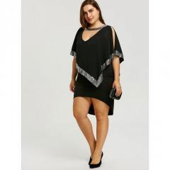 Модная одноцветная футболкасвышивкой-(Роза)больших размеров.