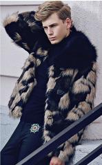 Теплые,  однотонные мужские куртки с...