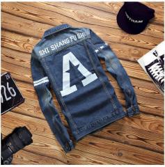Американская джинсовая куртка-(harujuku) для мужчин.
