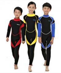 Детские гидрокостюмы-(Swimwear) мокрого типа -(Дайвинг, Сёрфинг).