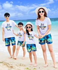 Хлопковая летняя одежда для семьи.