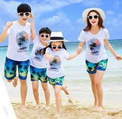Семейная одежда летнего отдыха-(Кокосы).