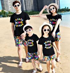 Одинаковая летняя одежда для всей семьи