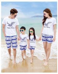 Семейная летняя одежда пляжного отдыха