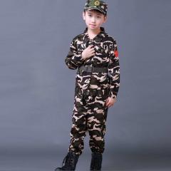 Детские камуфляжные костюмы для детей-(военная форма).