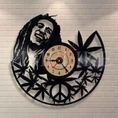 Большие декоративные настенные часы-(Виниловая пластинка).
