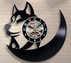 Современные классические настенные часы-(Собака