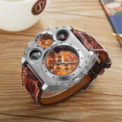 Аутентичные брендовые часы-(OULM) для мужчин качество Японии.