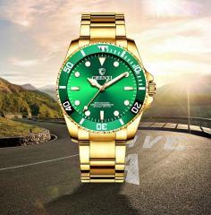 Золотые наручные часы для мужчин, лучший бренд класса люкс.