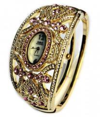 Женские золотые наручные часы-браслет-(Лучший Бренд Класса Люкс).