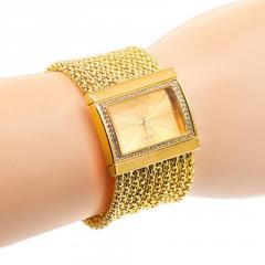 Классические роскошные кварцевые часы-браслет для