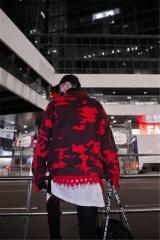 Джинсовые куртки для мужчин-(Красный камуфляж).