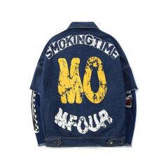 Джинсовая куртка хип-хоп для мужчин.