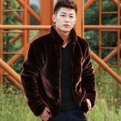 Европейские модные мужские теплые меховые куртки.