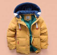 Зимняя детская куртка с капюшоном от 4 до 10...