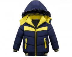 Детская теплая куртка-бомбер,  для мальчиков