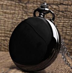 Модные, черные карманные часы часы для мужчин.