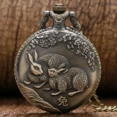 Бронзовые карманные часы-(Китайский Зодиак).