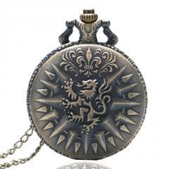 Бронзовые кварцевые карманные часы-(Игра престолов).