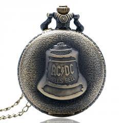 Бронзовые кварцевые карманные часы-(колокол).