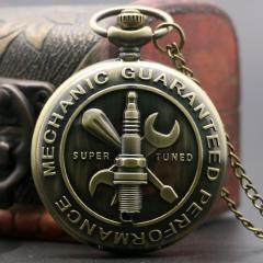 Бронзовые кварцевые карманные часы-(механик)